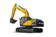现代R225LVS履带挖掘机整机视图全部图片