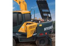 现代R150W VS轮式挖掘机局部细节36621