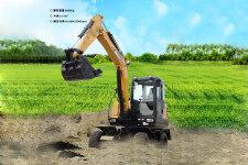 SY65W-10轮式挖掘机