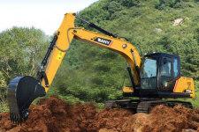 三一SY155C-10履带挖掘机施工现场36959