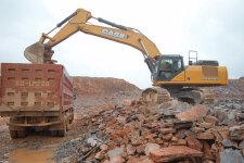 凯斯CX490C履带挖掘机施工现场全部图片