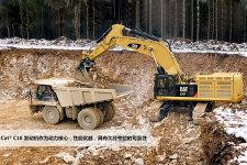 卡特彼勒Cat390FL大型矿用挖掘机施工现场40902