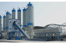 HZSJH120经济环保型混凝土搅拌站