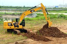 卡特彼勒新一代Cat320GC液压挖掘机施工现场44458
