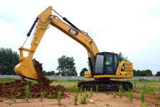卡特彼勒新一代Cat320GC液压挖掘机施工现场44461