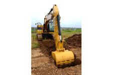 卡特彼勒新一代Cat320GC液压挖掘机施工现场44465