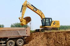 卡特彼勒新一代Cat323液压挖掘机施工现场44486