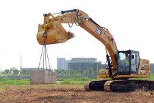 卡特彼勒新一代Cat323液压挖掘机施工现场44487