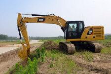 卡特彼勒新一代Cat323液压挖掘机施工现场44488