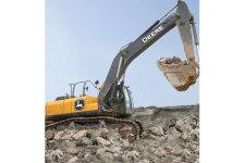 约翰迪尔E400LC履带挖掘机施工现场全部图片