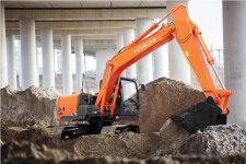 日立ZX130-5A履带挖掘机施工现场45318