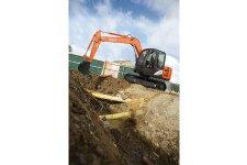 日立ZX70-5A履带挖掘机施工现场45329