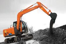 日立ZX70-5A履带挖掘机施工现场全部图片