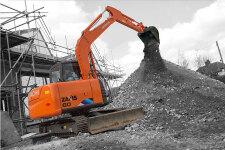 日立ZX60-5A履带挖掘机施工现场全部图片