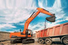 斗山DX230LC-9C履带挖掘机施工现场47188