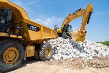 卡特彼勒新一代Cat345GC液压挖掘机施工现场47354