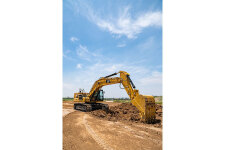 卡特彼勒新一代Cat345GC液压挖掘机施工现场47355