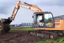 凯斯CX130C 履带挖掘机施工现场全部图片