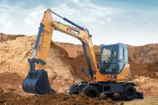 徐工XE60WA轮式挖掘机 施工现场48444