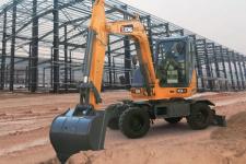 徐工XE60WA轮式挖掘机 施工现场48445