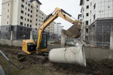 卡特彼勒新一代Cat 306液压挖掘机施工现场48643