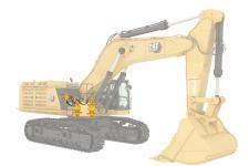 卡特彼勒Cat374液压挖掘机局部细节53337