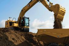 卡特彼勒新一代Cat323液压挖掘机施工现场53822