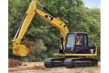 卡特彼勒Cat313D2GC液压挖掘机施工现场全部图片