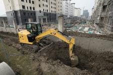 卡特彼勒新一代Cat 306液壓挖掘機施工現場53866