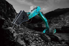 神钢SK500XD-10 SuperX履带挖掘机施工现场全部图片