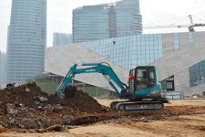 山河智能SWE60E履带挖掘机施工现场全部图片