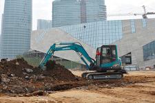 山河智能SWE70E履带挖掘机施工现场全部图片