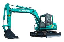 山河智能SWE80E9履带挖掘机整机视图全部图片