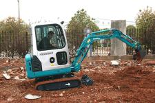 山河智能SWE80E9履带挖掘机施工现场全部图片