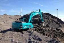山河智能SWE150E履带挖掘机施工现场全部图片