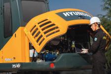 现代R75VS履带挖掘机局部细节全部图片