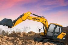 现代R110VS履带挖掘机施工现场全部图片