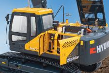 现代R215VS履带挖掘机局部细节54307