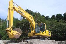 小松PC200-8M0履带挖掘机施工现场54698