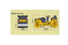 SW502双钢轮压路机