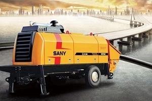 三一HBT8022C-5电动机混凝土拖泵图片集