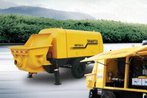 山推HBT6016混凝土拖泵圖片集