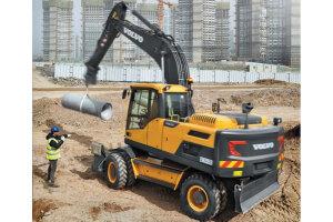 沃尔沃EW205D轮式挖掘机图片集