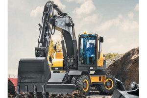 沃尔沃EW205D轮式挖掘机