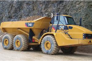 卡特彼勒740铰接式卡车图片集