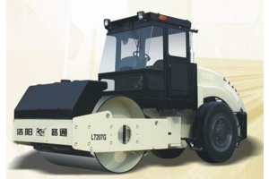 洛阳路通LT207G光面轮胎驱动单钢轮振动压路机图片集