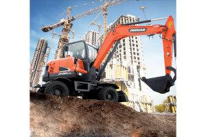 斗山DX60W-9C輪式挖掘機圖片集