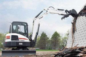 山猫E55小型挖掘机图片集