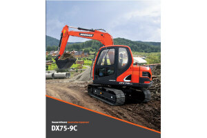 斗山DX75-9C履带挖掘机图片集
