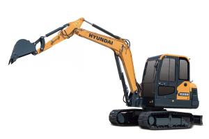 现代HX60小型履带挖掘机